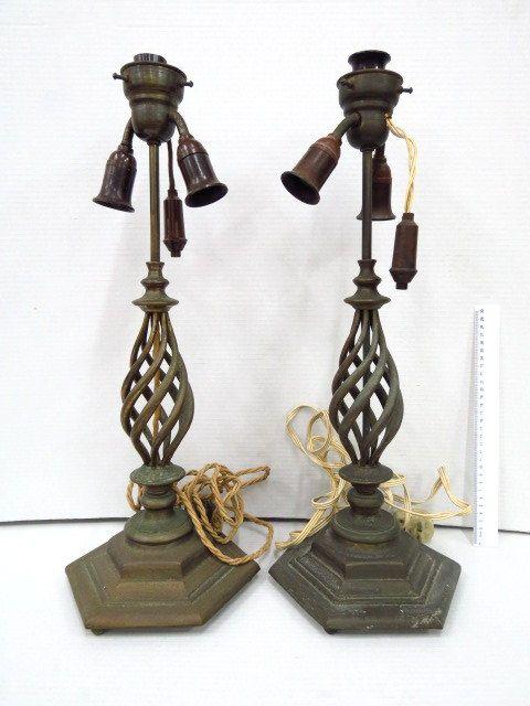 זוג בסיסי מנורה מברונזה