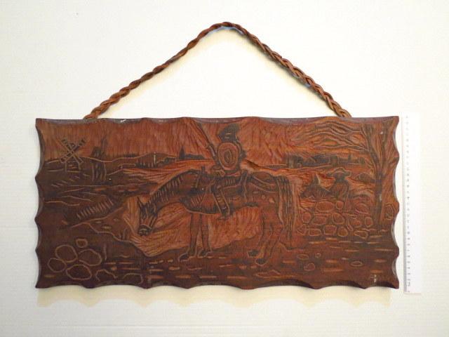 עבודת גילוף עץ ספרדית דון קישוט