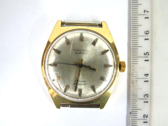 שעון יד תוצ Cardinal , לגבר מנגנון אוטומאטי (זכוכית שרוטה)