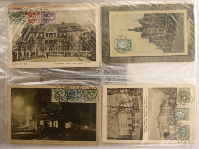 עשרים ותשע גלויות, עם ביול מזכרת פילאטלי, ארצות שונות