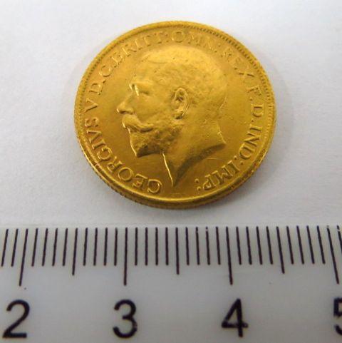 """מטבע זהב, אנגליה, ע""""ס סוברן 1926 XF SA"""