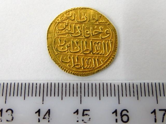 מטבע זהב עותמאני, מתוארך 1143 1730