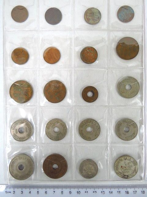 לוט מטבעות מנדט: 1 מיל (7) 2 מיל (3), 5 מיל (1), 10 מיל (5), 20 מיל (1942,1927), 50 מיל (1933), 100 מיל (1935)