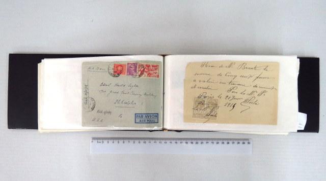 אלבום עם מעטפות וגלויות שנשלחו בדואר צרפת, סוף המאה ה19, עד שנות ה50, גרמניה, סוף המאה ה19 עד שנות ה60
