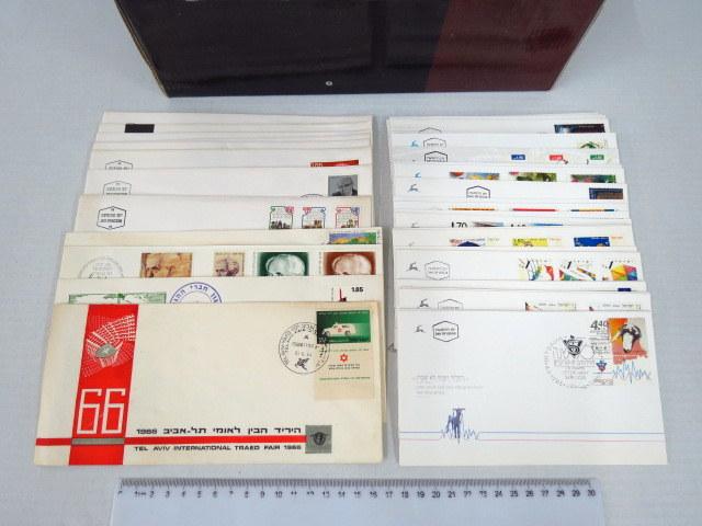 אוסף מעטפות יום הופעת הבול ישראל 1966-1996 לא שלם