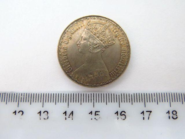 """מטבע כסף הממלכה המאוחדת ע""""ס פלורין 1883, מצב XF"""