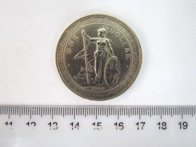 מטבע כסף Trade Dollar האימפריה הבריטית, 1900, מצב XF
