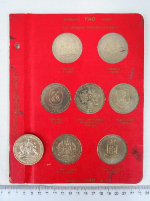 סט מטבעות F.A.O food for all people 7+1 מטבעות, Inauguration of the Caribian Development Bank 1970
