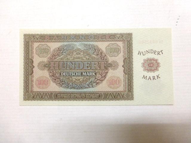 """שטר כסף מזרח גרמניה 1955 ע""""ס 100 מארק גרמנים, מצב UC Banknote-Hundert Deutsche Mark 1955"""