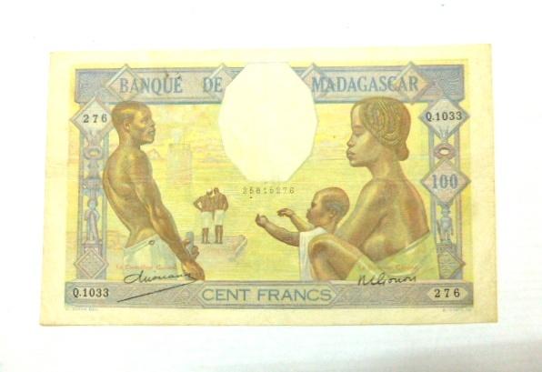"""שטר ע""""ס 100 פרנק, מצב VF"""