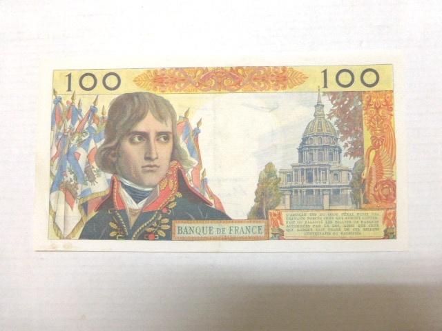 """שטר, בנק של צרפת 1960 ע""""ס 100 פרנק מצב AUC"""