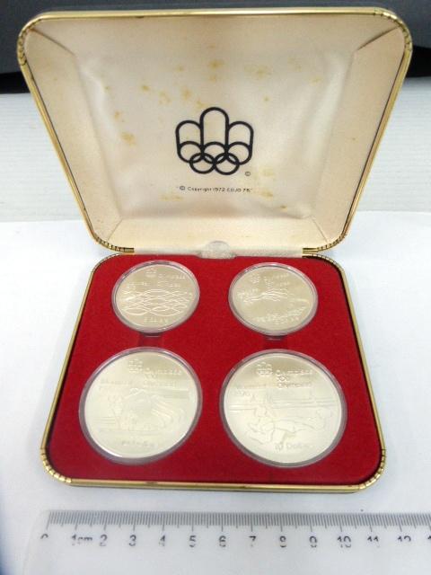 סט מטבעות כסף, מונטריאול 1976 Series V Olympic Water Sports, UC