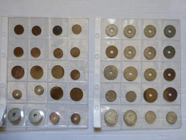 ארבעים מטבעות מנדט, ערכים שונים שנים שונות: 1 מיל (9), 2 מיל (5), 5 מיל (4), 10 מיל (1927,1933,1934,1935,1937,1939,1940,1941,1942,1942,1943,1946), 20 מיל (1927,1935,1942,1944), 50 מיל(1927,1935,1939,1942), 100 מיל (1927,1935)