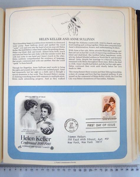 """אלבום מעטפות יום ראשון (יום הופעת הבול),  ארה""""ב 1979-1982 The Postal Commemorative Society"""