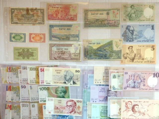 לוט שטרות מדינת ישראל: 500 מיל בנק אנגלו-פלשתינה 1948 חלודה 50, 100, 250 פרוטה, הצעת מטבע חוקית, אשכול-נאמן, 500 פר, 1,5,10,50 לירות, 1955 מצב Fine, חצי, 1,5,10,50 לירות, 1958, XF-UC, סך 5,10,50,100 לירות, 1968, XF-UC, סך 5,10,50,100,500 לירות, 1973-5, מצב XF-UC, 1,5,10,50,100,500,1000,5000,10000 שקל, 1978-1984, מצב XF-UC