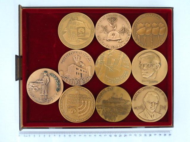 """עשר מדליות ברונזה: אפרים קישון, זאב ז'בוטינסקי, חטיבת גולני, הירוקים בחזית, גבעתי תש""""ח ועוד"""