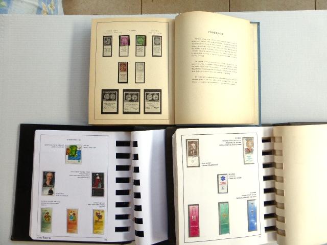 שלושה אלבומי בולי ישראל 1948-2003 שלם מ-1951, בין 1948-1949 חלקי בלבד