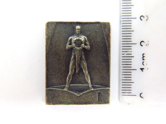 "מדלית פרס של הכח וינה 1935 עם כיתוב ""Schwimm-CL ""Hakoah"" Internat. Schwimmfest 1935"""