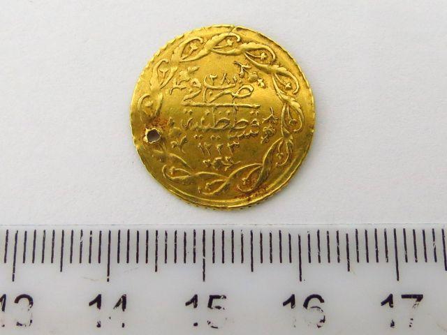 """מטבע זהב עותמאני ע""""ס סדיד מחמודיה Cedid Mahmudiye 1223 (1808)"""