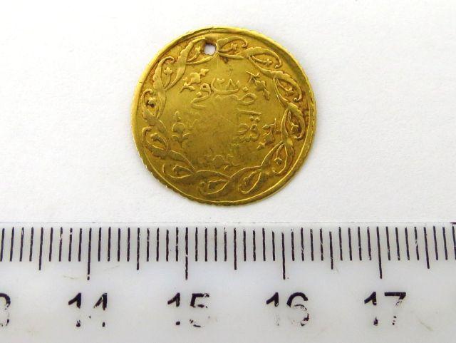 """מטבע זהב עותמאני ע""""ס סדיד מחמודיה Cedid Mahmudiya שחוק, שנה לא ברורה, 1223 (1808)"""