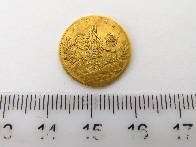 """מטבע זהב עותמאני ע""""ס 50 קורוש 50 Korush 1293 (1876)"""