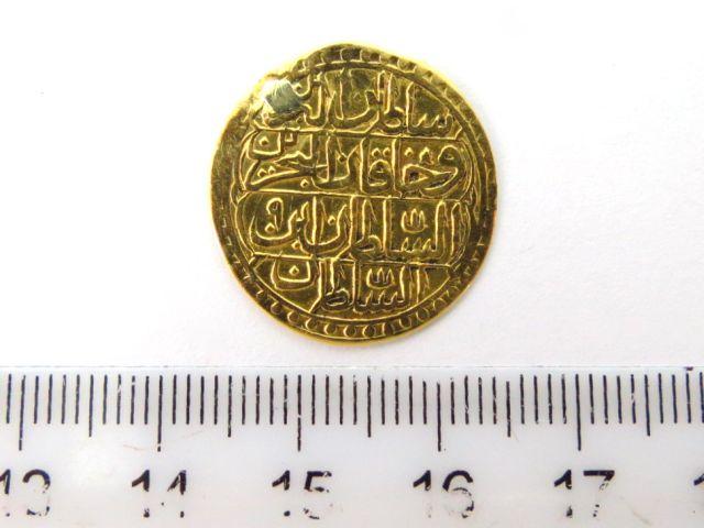 """מטבע זהב עותמאני ע""""ס סרי מחבוב Zeri Mahbub 1203 (1788)"""