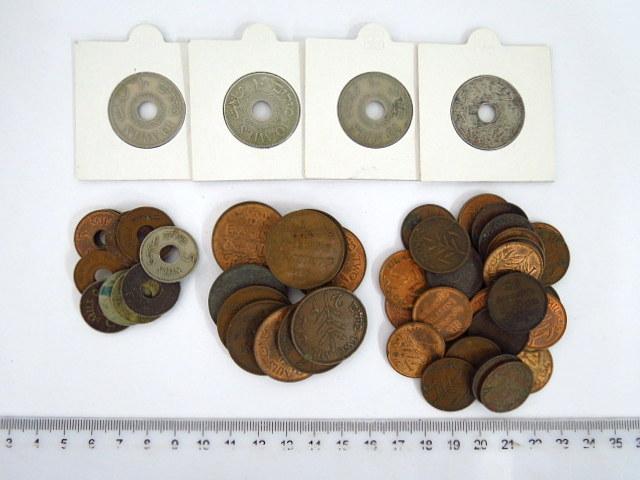 לוט מטבעות מנדט: 1 מיל (32) 2 מיל (11), 5 מיל (11), 10 מיל (4)