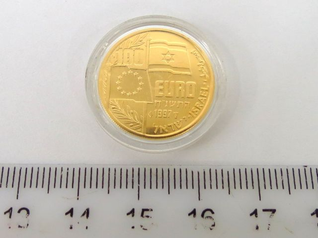 מטבע 100 אירו, זהב, יצחק רבין