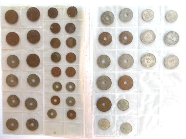 לוט מטבעות מנדט: 1 מיל (10) 2 מיל (5), 5 מיל (6), 10 מיל (12), 20 מיל (27,35,42,44), 50 מיל (27,35,39,40,42), 100 מיל (27,34,35,39)
