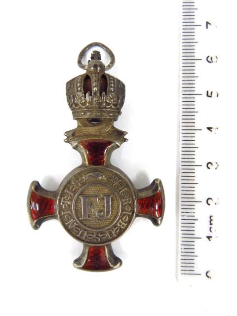 אות צבא הקיסרות האוסטרית 1849-F.G. Viribus Unitas