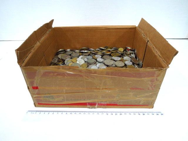"""קופסה עם מטבעות, ישראל, תקופות שונות ס""""ה כ 11 ק""""ג"""