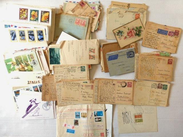 לוט מעטפות שנשלחו בדואר וכן מעטפות פילטליות, ארצות שונות, תקופות שונות