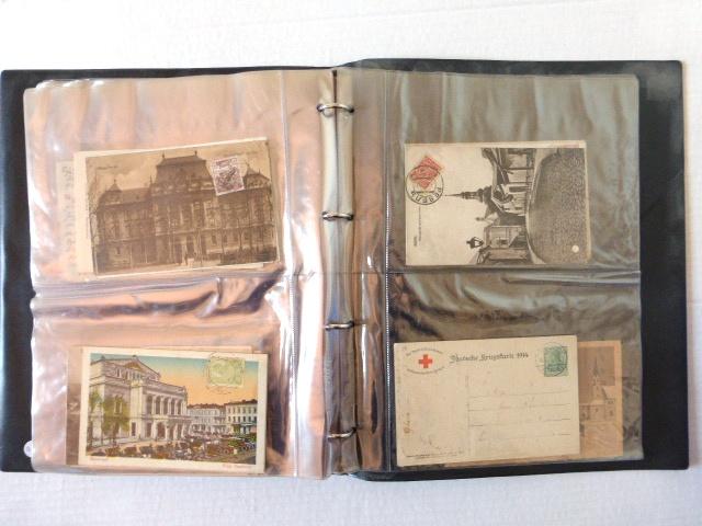 אלבום עם 92 גלויות, מראות ערים עם ביול פילטלי, תחילת המאה ה20