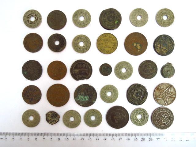 32 מטבעות, מרוקו, המאה ה-19, והמאה ה-20