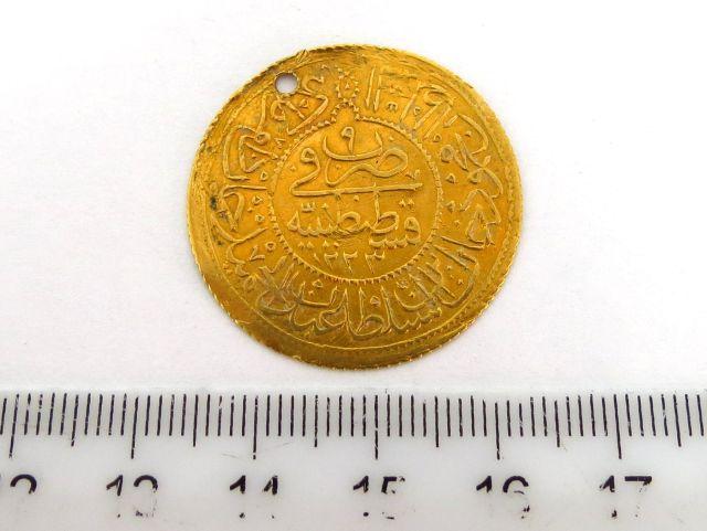 """מטבע זהב עותמאני ע""""ס 1.5 Altin שנת 1223 (1808)"""