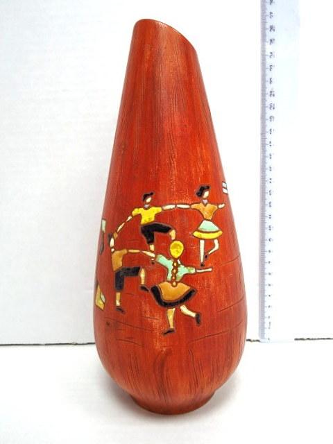 אגרטל קרמיקה, עם תבליט רוקדים ישראל, שנות ה50