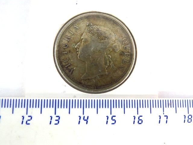 "מטבע כסף Streits Settlements ע""ס 50 סנט, 1897, מצב VF-XF"
