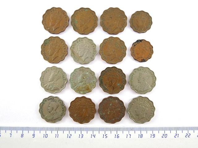 לוט של שש עשרה מטבעות פיאסטר קפריסין, תקופת המנדט הבריטי