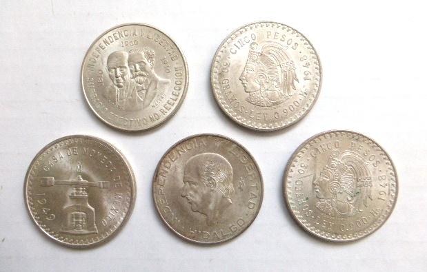 חמש מטבעות 500 פזו, מכסיקו