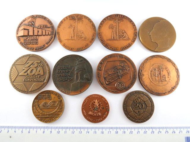 לוט של 11 מדליות ברונזה