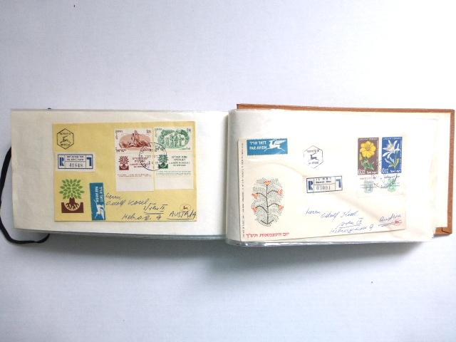 לוט של מעטפות יום הופעת הבול שנשלחו בפועל, ישראל, שנות ה50-60