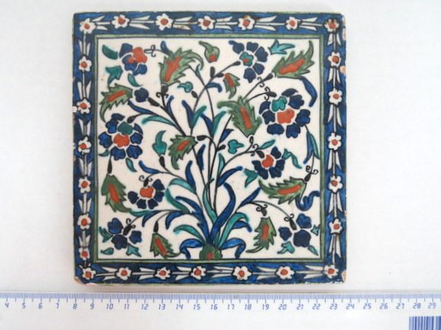 אריח קרמיקה ארמני, ציור פרחים