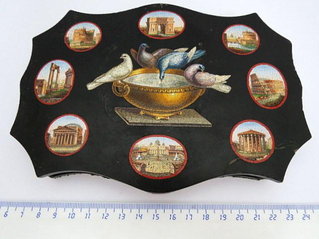עבודת מיקרו-מוזאיקה איטלקית המאה ה19, מראות אתרים היסטוריים ברומא