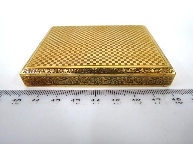קופסת סיגריות-טבק, זהב 14K