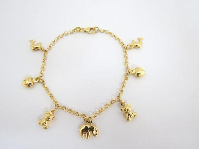 שרשרת עם תליוני שרי ורי, זהב 14K