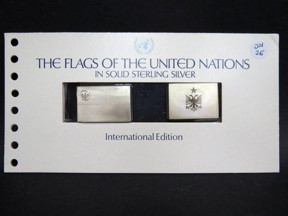 מטבע דגלי האומות המאוחדות כסף סטרלינג