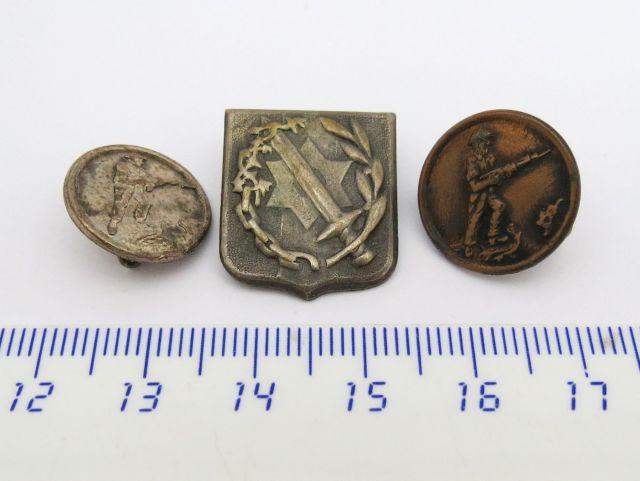 שלוש סיכות, חיילים ארץישראלים בשירות הוד מלכותה, כסף ונחושת וסיכה נוספת