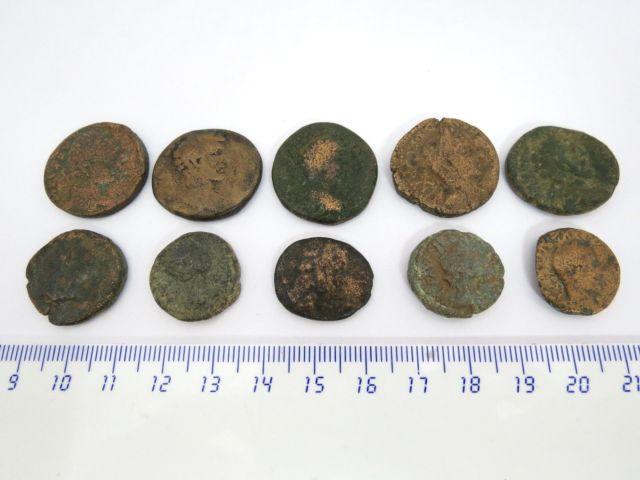לוט של 10 מטבעות ערים ברונזה, ארץ ישראל, שלטון רומי - מאות שניה ושלישית לספירה
