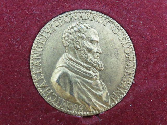 מדלית ברונזה לזכר Michelangelo Bunerothus Floresanno 88