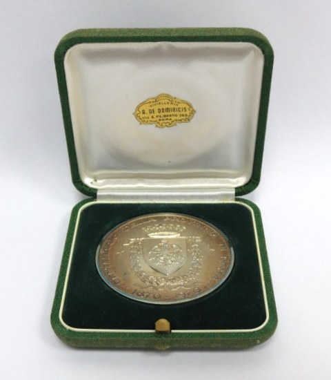 מדלית כסף 800, לכבוד 100 שנה למחוז רומה 1870-1970, Centerario della Rrovincia di Roma, 1870-1970